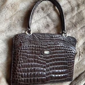 Birks vintage shoulder bag - crocodile skin retro
